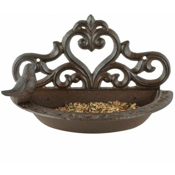 Bird Feeder Brown Cast Iron BR26 - Brown - Esschert Design