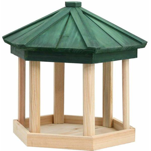 Bird Feeder Octagon Solid Firwood 33x30 cm - Brown - Vidaxl