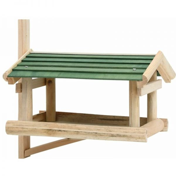 Bird Feeder Solid Wood 35x29.5x21 cm - Brown - Vidaxl
