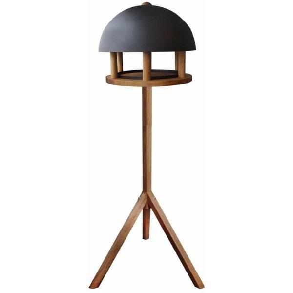 Bird Table Round Steel Roof FB429 - Brown - Esschert Design