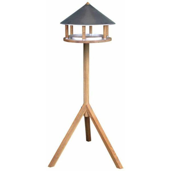 Bird Table Triangular Zinc Roof FB431 - Brown - Esschert Design