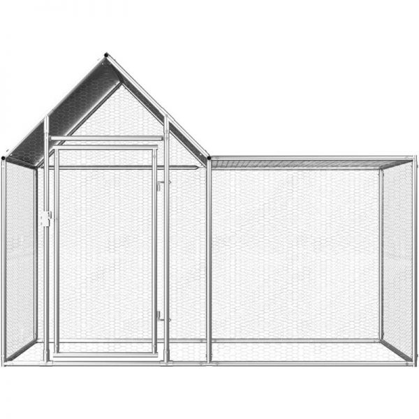 Chicken Coop 2x1x1.5 m Galvanised Steel QAH06048 - Hommoo
