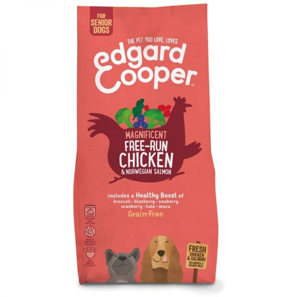 Chicken & Salmon Senior Dry Dog Food (7kg) (May Vary) - Edgard&cooper