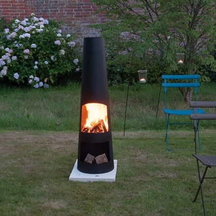 Contemporary steel chimenea circo