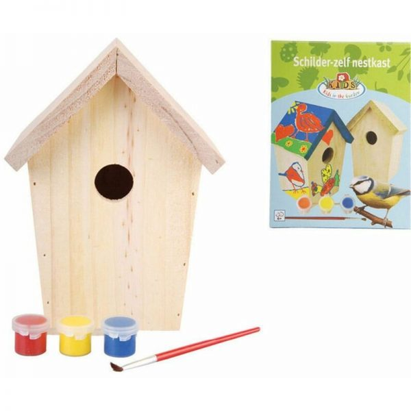 DIY Nesting Box with Paint 14.8x11.7x20 cm KG145 - Esschert Design