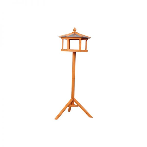 Deluxe Bird Stand Feeder Table Feeding Station Wooden 113cm High - Pawhut