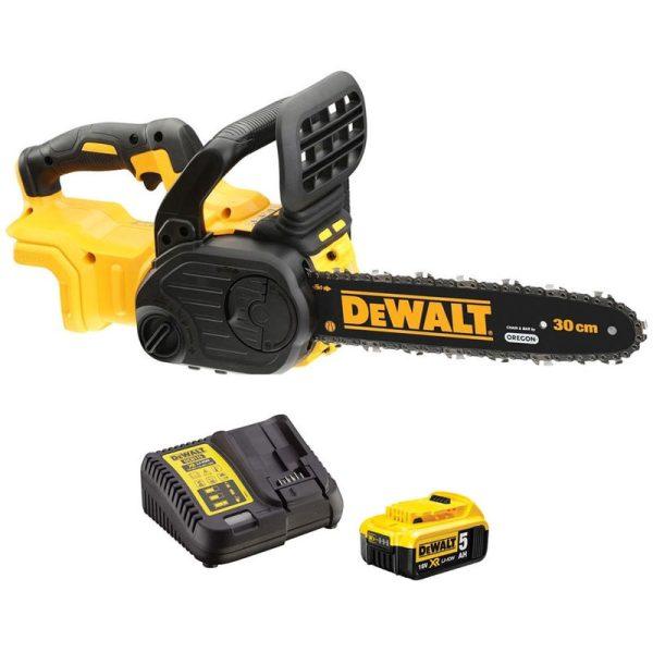 Dewalt DCM565P1 XR Brushless Chainsaw 18V 1 x 5.0Ah Li-ion Battery:18V