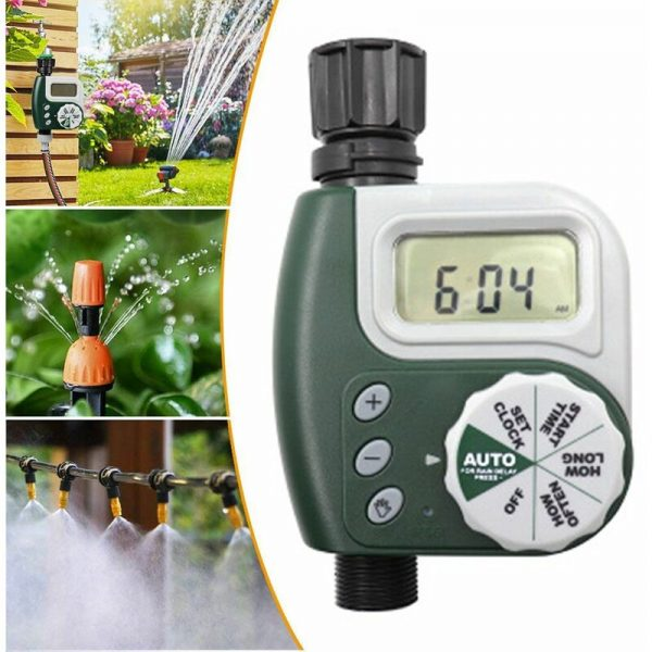 Digital water timer, watering clock Waterproof LCD display Digital Automatic time-saving, watering programs ideal for garden greenhouse agriculture