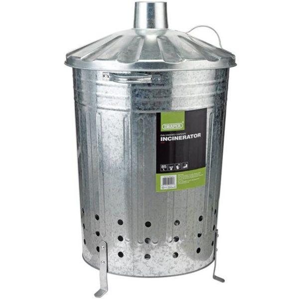 Draper Galvanised Garden Incinerator (85L)