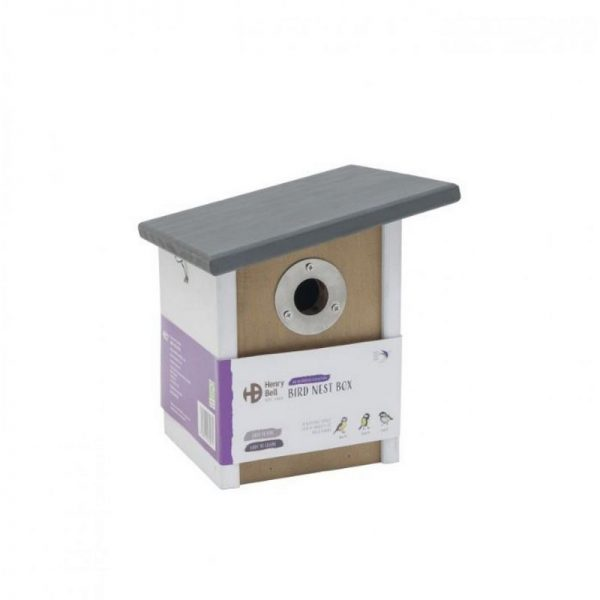 Elegance Sloping Roof Nest Box (One Size) (White/Brown/Grey) - Henry Bell
