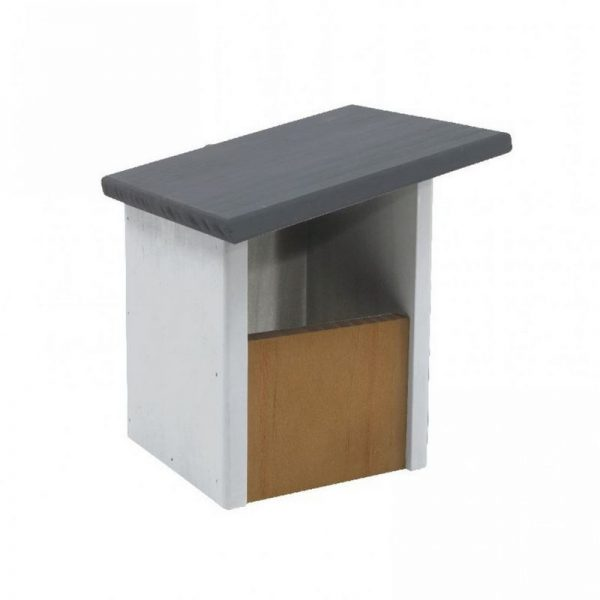 Elegance Sloping Roof Open Front Nest Box (One Size) (White/Grey) - Henry Bell