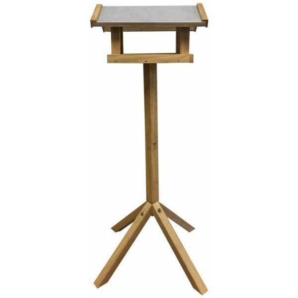 Esschert Design Bird Table Rectangular Steel Roof FB432 - Brown