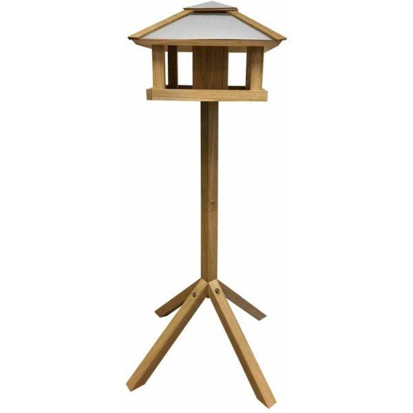 Esschert Design Bird Table Square Steel Roof FB433 - Brown