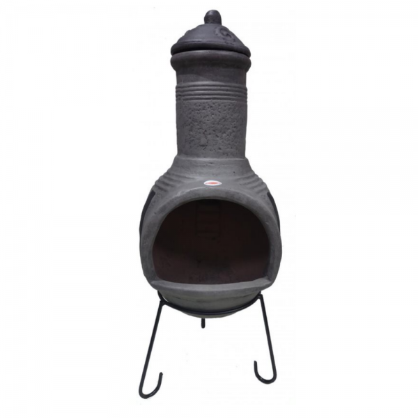 Extra-Large Tosca Mexcian Chimenea in Dark Grey