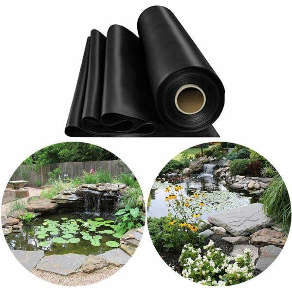 Fish Pond Liner Garden Landscaping Pool Membrane Anti-Seepage Waterproof Liner,3.5x3.5m