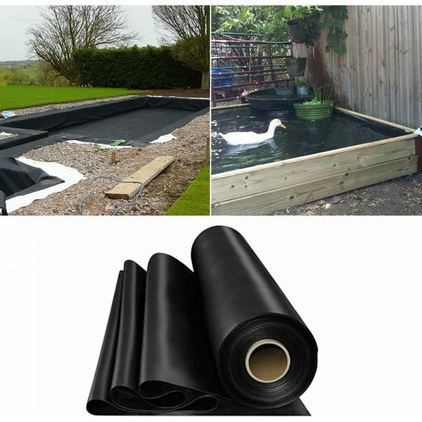 Fish Pond Liner Garden Landscaping Pool Membrane Anti-Seepage Waterproof Liner,6x7m