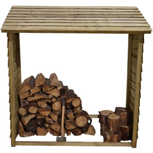 Forest Garden - 5'9 x 2' (1.75 x 0.6m) Forest Large Wall Log Store