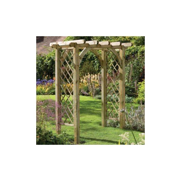 Forest Garden - 6' x 4'6 Forest Premium Garden Pergola Arch (1.82x1.36m)