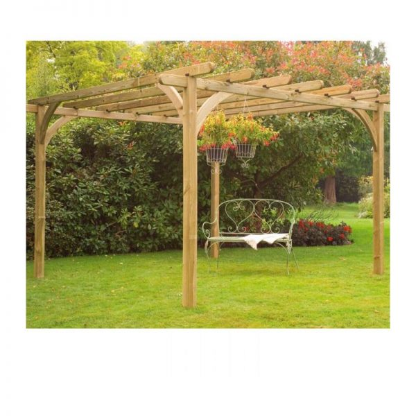 Forest Large Ultima Wooden Garden Pergola Arch 10'x10'