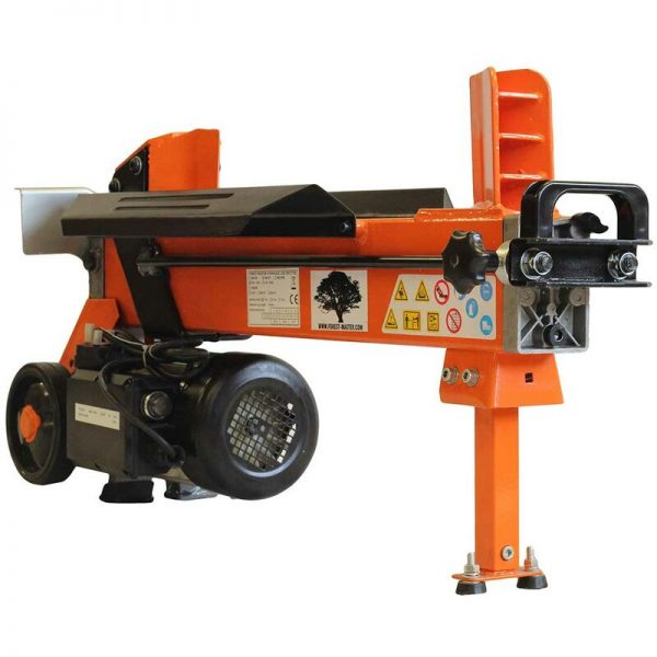 Forest Master FM10D-TC 5 Ton DuoCut Electric Log Splitter with Ramstop, Workbench and Guard
