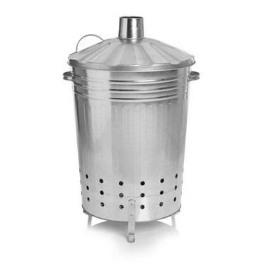 Galvanised Steel Garden Incinerator 80L
