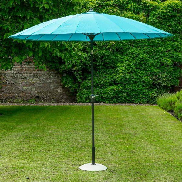 Garden Must Haves Geisha 2.7m Parasol (base not included) - Aqua