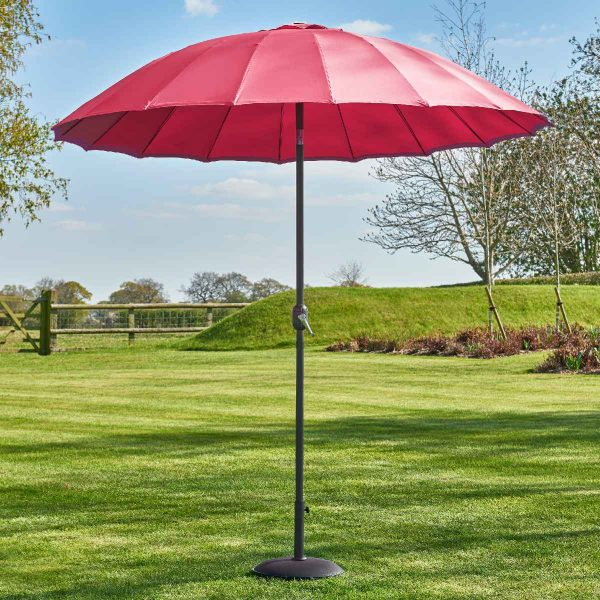 Garden Must Haves Geisha 2.7m Parasol (base not included) - Fuchsia