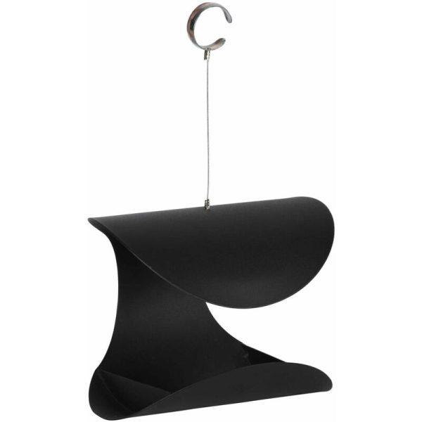 Hanging Bird Feeder Black L FB438 - Black - Esschert Design