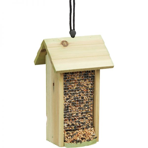 Hanging Birdhouse, Wooden, No Stand, HxWxD: ca 26 x 15 x 15 cm, Bird Feeder, Green - Relaxdays