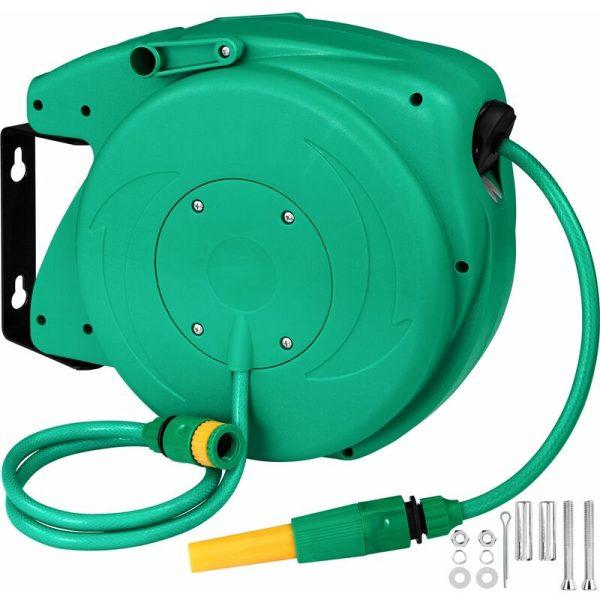 Hose reel - hose pipe, garden hose, garden hose reel - 10 m - green