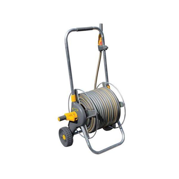 Hozelock 2436 60m Metal Pro Hose Cart & 30m of 12.5mm Hose