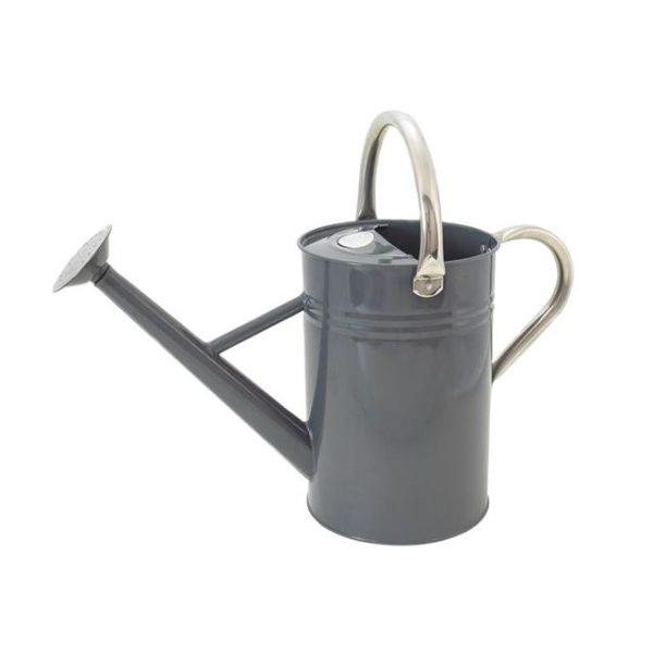 Kent & Stowe Metal Watering Can Cool Grey 4.5 litre