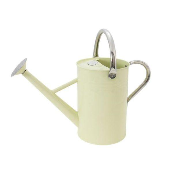 Kent & Stowe Metal Watering Can Vintage Cream 4.5 litre