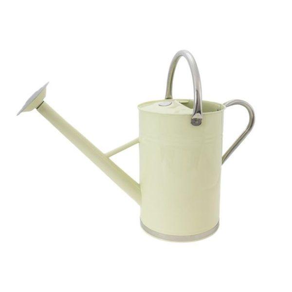 Kent & Stowe Metal Watering Can Vintage Cream 9 litre
