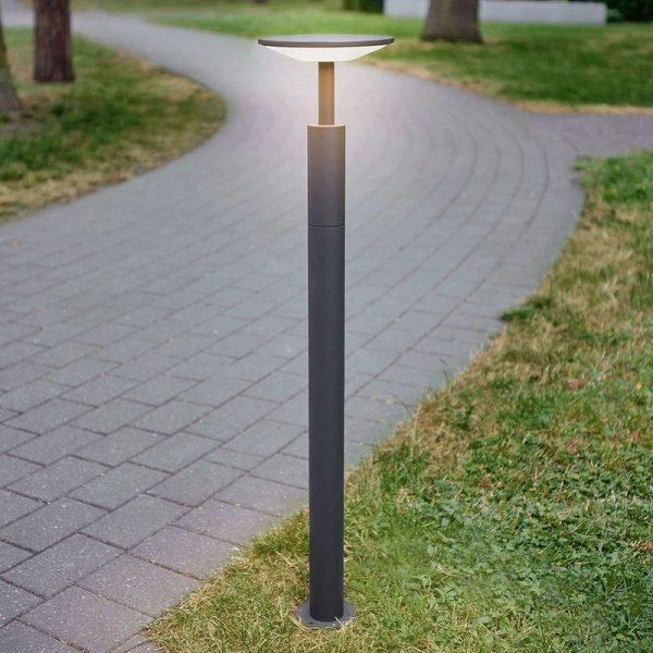 LED Outdoor lights 'Fenia' (modern) in Black made of Aluminium (A+) from Lucande | garden light, path light, bollard light, path lamp, pillar light