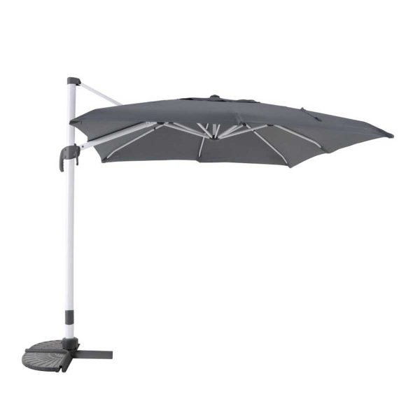 MWH Overhanging Cantilever Parasol - White/Anthracite