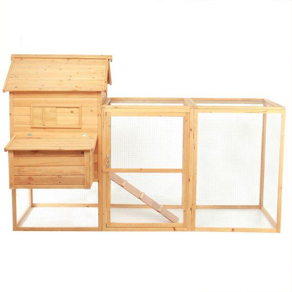 Maerex - 2-tier Chicken Coop Wooden Bunny/Hen Cage Pet House 150*146*228cm