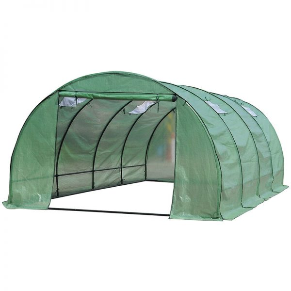 Mohoo - Unframed Greenhouse PE Cover Walk in Polytunnel Gardening Warm Grow Shed 6X3X2M