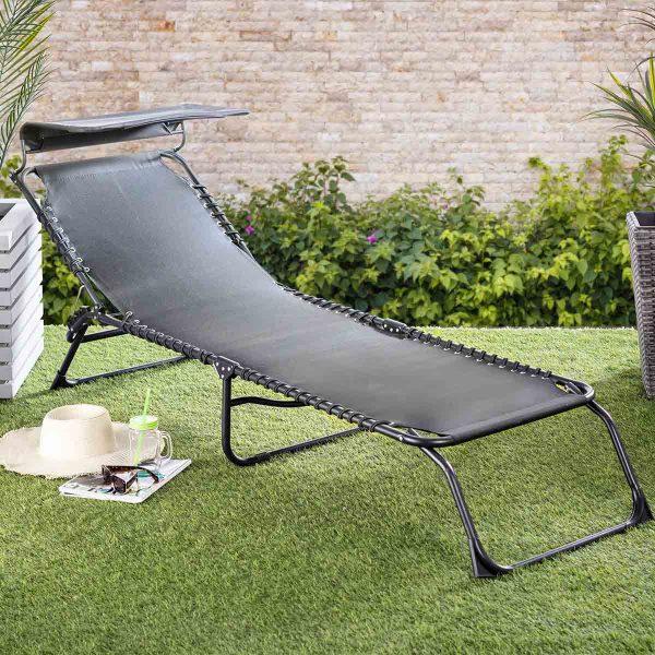 Monaco Steel Folding Sun Lounger