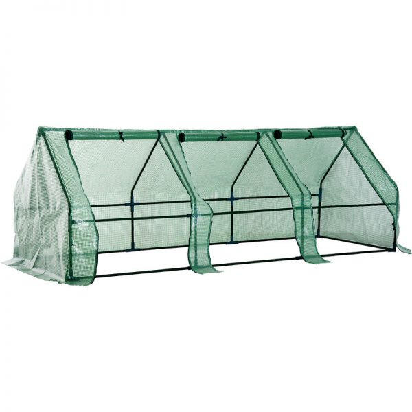 Outsunny 2.7m Polytunnel Steeple Greenhouse Steel Frame 270L x 90W x 90H (cm)