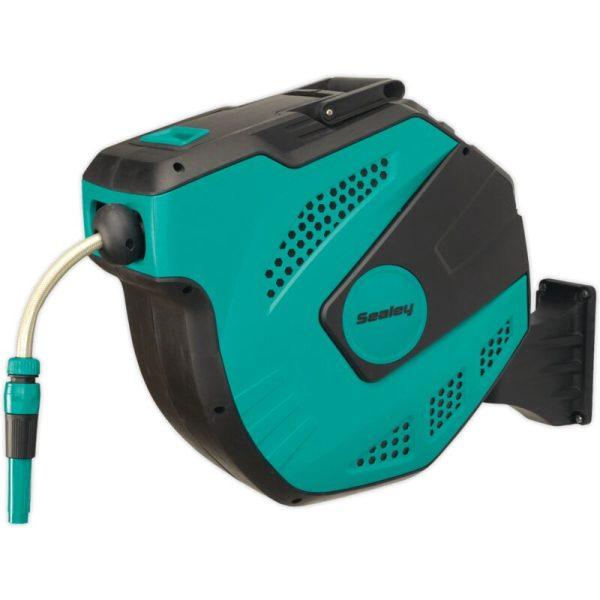 RWH20 Auto-Rewind Control Garden Hose Reel 20m - Sealey