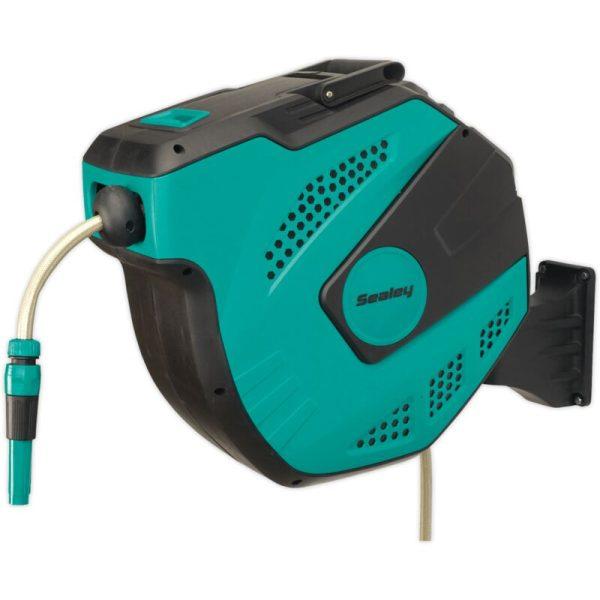 RWH30 Auto-Rewind Control Garden Hose Reel 30m - Sealey