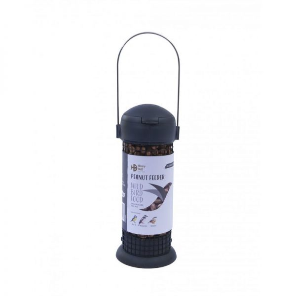 Ready To Feed Filled Peanut Bird Feeder (One Size) (Grey) - Henry Bell