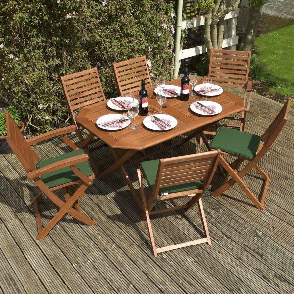 Rowlinson Plumley Hardwood 6 Seater Dining Set