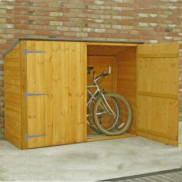 Shire - Bike Store Pent Shiplap Garden Bicycle Shed no floor
