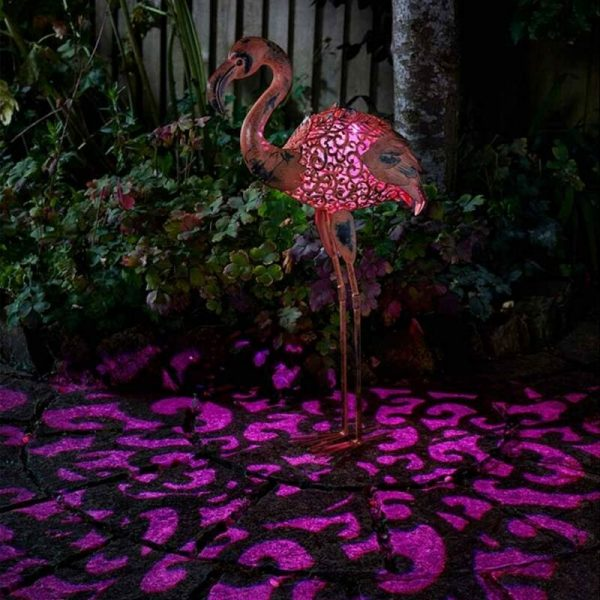 Solar Flamingo Silhouette Light Garden Light Figure Ornament - Smart Garden