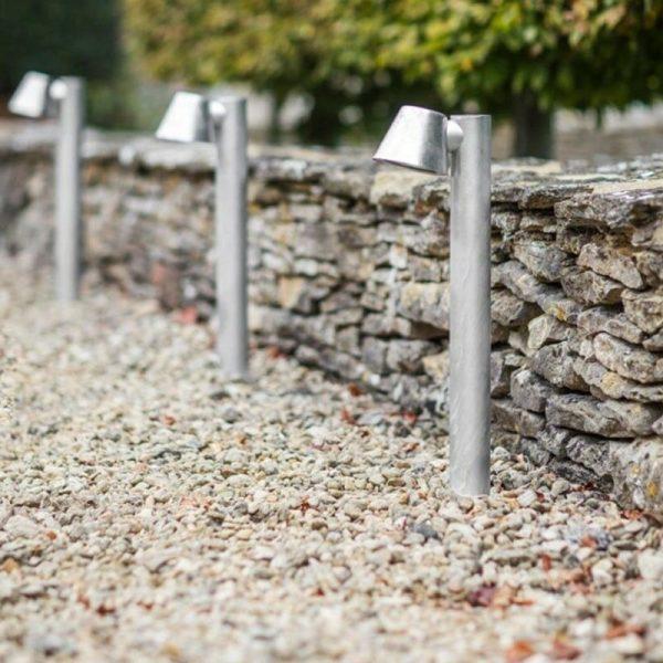 St Ives Mast Post Path Mains Garden Light LAHP43 Galvanised Steel - Garden Trading