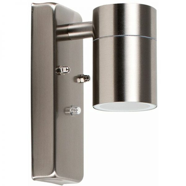 Stainless Steel Outdoor Garden Down Light LED - Dusk Till Dawn Sensor - Silver