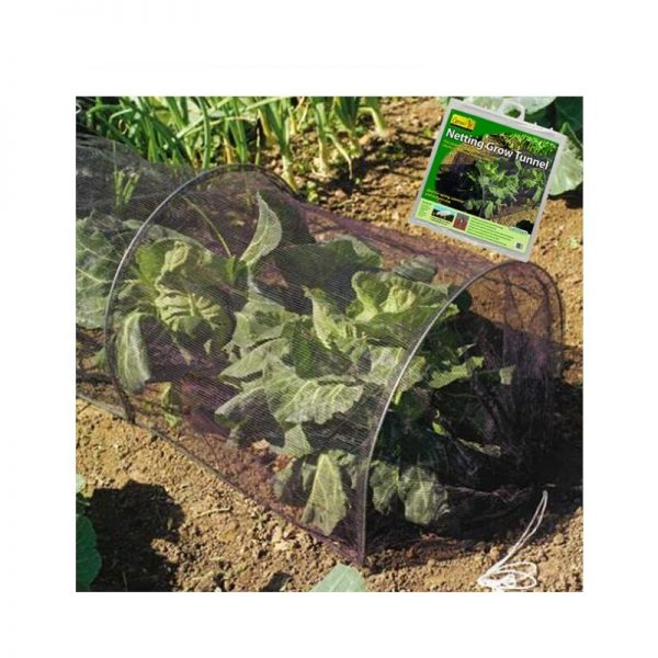 Strong Netting Grow Tunnel Polytunnel Cloche 3m Pest & Bird Protection - Gardman