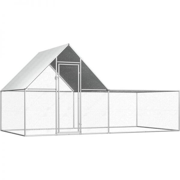 Youthup - Chicken Coop 4x2x2 m Galvanised Steel